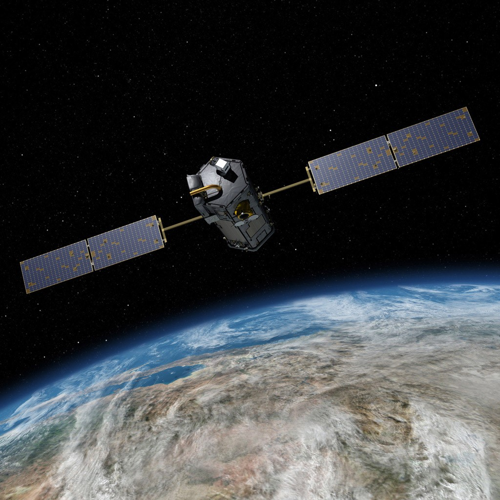Artist's impression of OCO-2 orbiting the Earth, photo credit: NASA